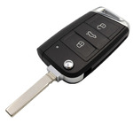 Image for 3 Button MQB Remote Case with HU162T Blade (Chrome Edge)